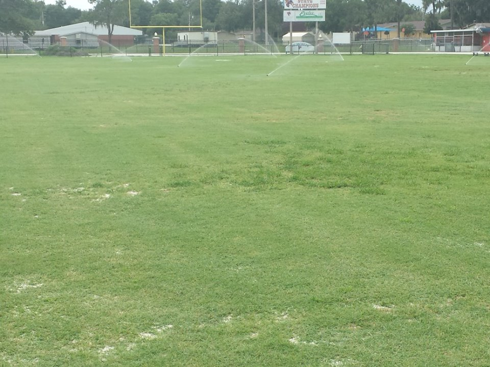 bartow football field before