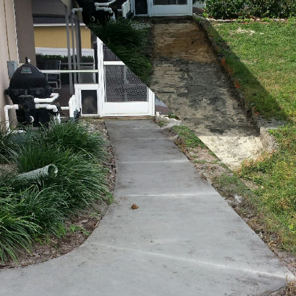 Concrete before and after 1